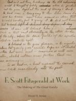 F. Scott Fitzgerald at Work