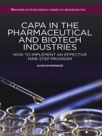 CAPA in the Pharmaceutical and Biotech Industries