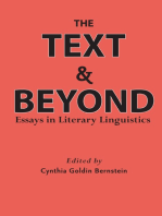 The Text and Beyond: Essays in Literary Linguistics