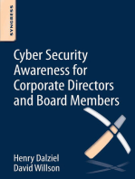 Cyber Security Awareness for Corporate Directors and Board Members