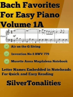 Bach Favorites for Easy Piano Volume 1 A