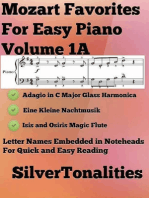 Mozart Favorites for Easy Piano Volume 1 A