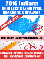 2016 Indiana Real Estate Exam Prep Questions and Answers