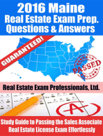 2016 Maine Real Estate Exam Prep Questions and Answers