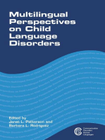 Multilingual Perspectives on Child Language Disorders