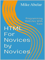 HTML For Novices By Novices
