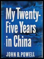 My Twenty-Five Years In China