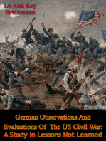 German Observations And Evaluations Of The US Civil War