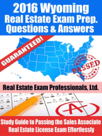 2016 Wyoming Real Estate Exam Prep Questions and Answers