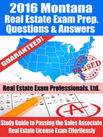 2016 Montana Real Estate Exam Prep Questions and Answers