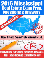 2016 Mississippi Real Estate Exam Prep Questions and Answers
