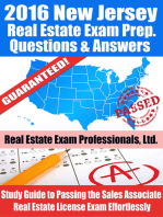 2016 New Jersey Real Estate Exam Prep Questions and Answers