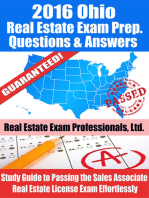 2016 Ohio Real Estate Exam Prep Questions and Answers