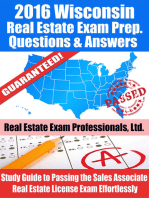 2016 Wisconsin Real Estate Exam Prep Questions and Answers