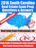 2016 South Carolina Real Estate Exam Prep Questions and Answers