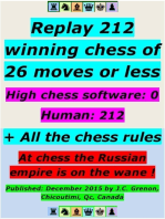 Replay 212 Winning Chess of 26 Moves or Less - High Chess Software