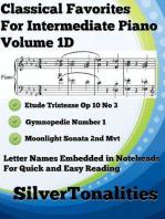 Classical Favorites for Easy Intermediate Piano Volume 1 D