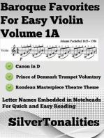 Baroque Favorites for Easy Violin Volume 1 A