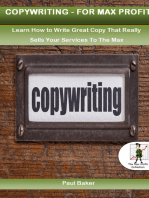 Copy Writing For Max profit