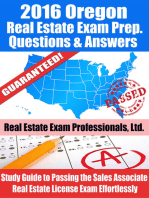 2016 Oregon Real Estate Exam Prep Questions and Answers