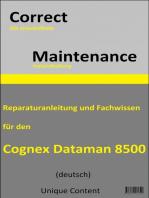Correct Maintenance - Cognex DataMan 8500