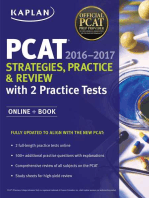 Kaplan PCAT 2016-2017 Strategies, Practice, and Review with 2 Practice Tests