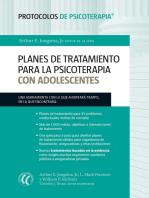 Planes de tratamiento para la psicoterapia con adolescentes