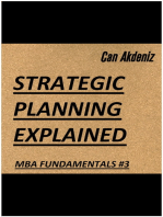 Strategic Planning Explained (MBA Fundamentals - Things You Will Learn in a Business School Book 3)