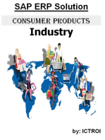 SAP ERP Solution Consumer Products Industry