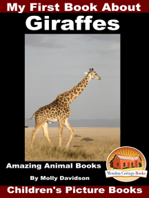My First Book about Giraffes: Amazing Animal Books - Children's Picture Books