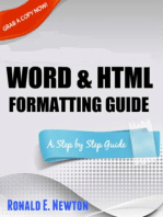 Kindle Word & HTML Formatting Guide