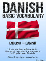 Basic Vocabulary English - Danish: A convenient eBook with the most important vocabulary in English and Danish