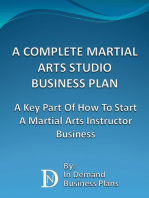 A Complete Martial Arts Studio Business Plan