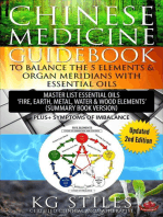 """Chinese Medicine Guidebook To Balance the 5 Elements & Organ Meridians with Essential Oils Master List Essential Oil """"Fire, Earth, Metal, Water, Wood Elemts"""" (Summary Book Version)"""