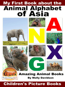 My First Book about the Animal Alphabet of Asia: Amazing Animal Books - Children's Picture Books