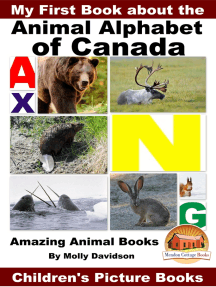 My First Book about the Animal Alphabet of Canada: Amazing Animal Books - Children's Picture Books
