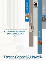 2016 Commercial & Industrial Common Interest Development Act