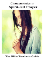 Characteristics of Spirit-led Prayer