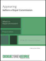 Appearing Before a Royal Commission