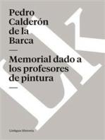 Memorial dado a los profesores de pintura