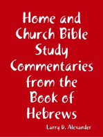 Home and Church Bible Study Commentaries from the Book of Hebrews