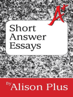 A+ Guide to Short Answer Essays