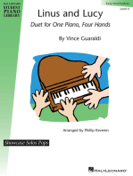 Linus and Lucy: Early Intermediate Level 4 Showcase Solos Pop Duet for One Piano,