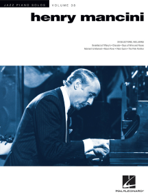 Henry Mancini: Jazz Piano Solos Series Volume 38