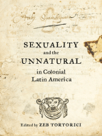 Sexuality and the Unnatural in Colonial Latin America