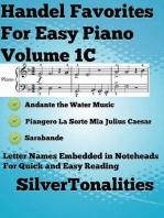 Handel Favorites for Easy Piano Voume 1 C