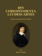 Din corespondența lui Descartes