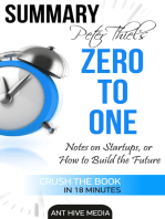 Peter Thiel's Zero to One: Notes on Startups, or How to Build the Future Summary