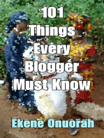 101 Things Every Blogger Must Know