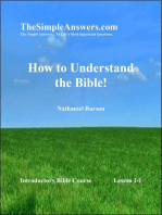 How To Understand The Bible!